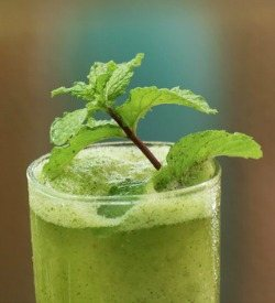 Minty Spinach Green Smoothie