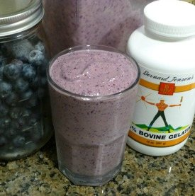Blueberry Gelatin Protein Smoothie