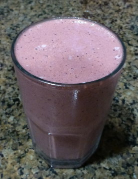 Chocolate Almond Berry Butter Smoothie